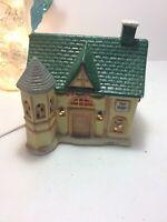 Christmas Village lighted Porcelain House Tony's Toy Shop