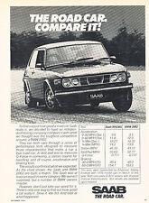 1976 SAAB 99 EMS vs. BMW 2002 - Original Advertisement Car Print Ad J325
