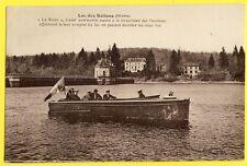 """cpa LAC des SETTONS (Nièvre) CANOT AUTOMOBILE """"Le BIZON"""" Bateau de Promenade"""