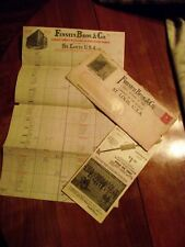Vintage Circa 1913 Funsten Brothers fur buyers/ trappers invoice and order blank