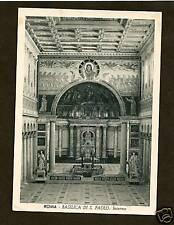 INTERIOR OF ST. PAUL BASILICA, ROME *