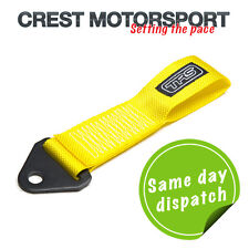 TRS Fixed Tow Eye Strap/Loop YELLOW (MSA Compliant) Race/Rally/Competition Car