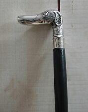 Metall Holz Silber Farbe Spazier Stock Spazierstock Gehhilfe Hund B106