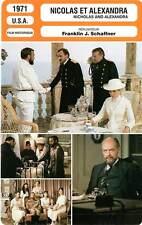 FICHE CINEMA : NICOLAS ET ALEXANDRA - Jayston,Suzman,Noble,Schaffner 1971