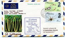 FFC 1970 Lufthansa First Flight LH 591 Frankfurt Cairo Entebbe Nairobi Mauritius