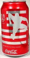 MT UNOPEN 12oz 355ml Can USA Coke Coca-Cola 2012 London Summer Olympics Hurdler