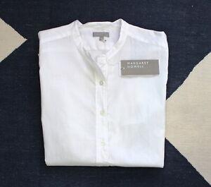 Margaret Howell Half Placket Button Down Shirt Blouse White, UK 14-16, XL