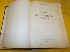 ENRICO ENRIETTI:ELEMENTI DI DIRITTO PRIVATO ITALIANO.LOESCHER EDITORE.1954 RARO!
