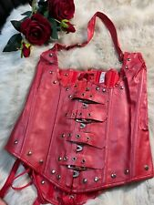 Unbranded red faux leather Corset bustier size  M  below breats