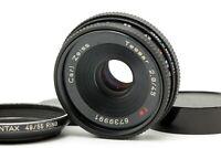 【EXC+++++】 Contax Carl Zeiss Tessar 45mm f2.8 T* AEJ Pancake Lens 49/55 Ring JPN