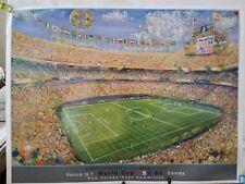 US WORLD CUP SOCCER 1994 ITALY / IRELAND NJ MEADOWLANDS KAMIL KUBIK ART / POSTER