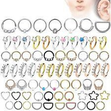 Cartilage Upper Ear Ring - Tragus Top Ear Helix Daith Earring - Nose Septum Hoop