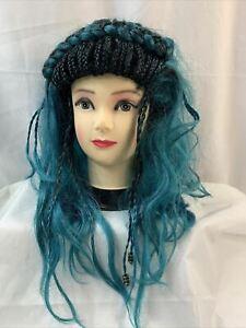 Disney Descendants 3 Uma Wig Blue Child Halloween Costume Accessory NWT 159