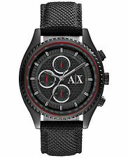 Armani Exchange Men's AX1610 Chronograph Black Dial Black Nylon Watch