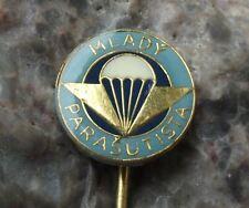 Vintage Young Parachutist Skydiver Youth Para Award Parachuting Wings Pin Badge