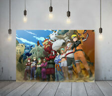 NARUTO 2 -DEEP FRAMED CANVAS ANIME WALL ART PICTURE PAPER PRINT- ORANGE RED BLUE