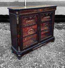 More details for lovely antique 19th century french glazed display cabinet, c1900