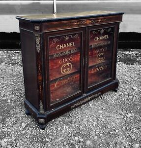 LOVELY ANTIQUE 19TH CENTURY FRENCH GLAZED DISPLAY CABINET, C1900