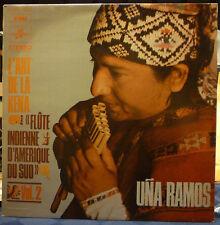 UNA RAMOS LP L'art De La Kena Flute Indienne D'Amerique Du Sud Vol. 2 NM French