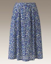 "Ladies Ditsy Purple Print Pleated Jersey Girls  Skirt- Length 27"" - SIZE UK 18"