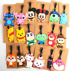 160 Styles New Disney Mickey Stitch PVC Baggage Backpack Suitcase Luggage Tags