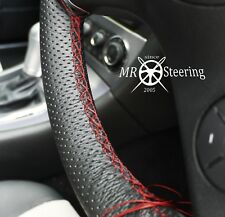 FOR MERCEDES CLK 03+ PERFORATED LEATHER STEERING WHEEL COVER DARK RED DOUBLE STT