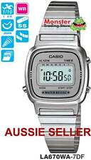 AUSSIE SELLER CASIO LADIES VINTAGE RETRO LA-670WA-7DF LA670WA LA670 WARRANTY