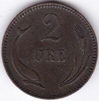 1881 Denmark 2 Ore | European Coins | Pennies2Pounds