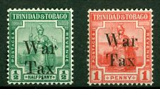 Trinidad & Tobago 1918, War Tax Overprints, SC# MR12-MR13, MNH 2103