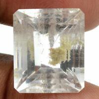 Cts. 17.60 Natural Quartz Lodolite Madagascar Octagon Cut Gemstone 17X14 MM