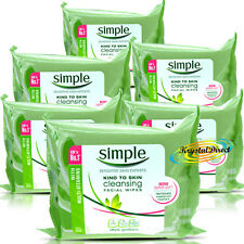 Simple Cleansing Facial Wipes Kind To Skin With Multi Vitamins - 150 Wipes