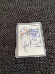 Peyton Manning Hand Signed Indianapolis Colts Football Card
