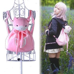 Danganronpa Nanami ChiaKi Cosplay Bag Backpack Pink Animal Cat Drawstring Bags