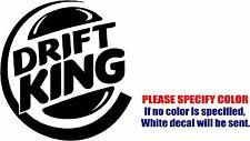"Drift King Racing Car Decal Sticker Funny Vinyl Car Window Bumper Wall Laptop 6"""
