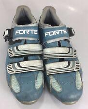 Forte Mens 8 US Blue Silver Cycling Bike Shoes SPD 7UK