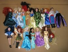 "Disney Princess Lot of 17 Dolls 12"" Mermaid Frozen Used EX Cond"