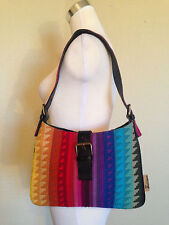 JOHN GALLIANO BOHEMIAN STYLE EMBROIDERED MULTI COLORED/RAINBOW SHOULDER BAG RARE