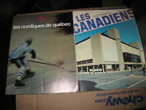 Lot of (2) 1977-78 French Hockey Programs  Quebec Nordiques & Montreal Canadians
