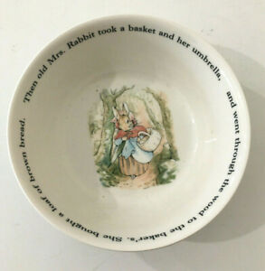 Peter Rabbit Wedgwood Cereal Bowl Fredrick Warne & Co 1993