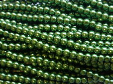 1 Strand (140 Beads) x 6mm Dark Green Glass Pearl Beads Faux Imitation Pearls