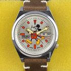 VINTAGE SEIKO 5 MICKEY MOUSE AUTOMATIC  CAL6309A DAY DATE MEN'S WATCH Qj311