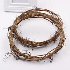 Realistic Garland Artificial Flower Vines Foliage Wreaths Iron Wire Rattan 2 Pcs