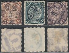 China 1898-1909 - Used stamps. Lot of 3 Dragons ............. B9530
