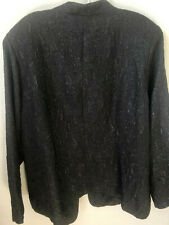 Avenue Textured  Black Blazer Plus Size 18/20