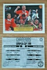 Futera Fans Selection 1999 Manchester United No 100 Champions Card