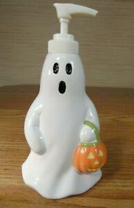 White Ceramic Halloween It's the Things Ghost Soap Dispenser