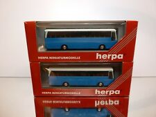 HERPA 142045 2x KÄSSBOHRER SETRA S215 HD - BLUE 1:87 - GOOD CONDITION IN BOX