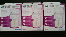Philips AVENT Breast Milk Storage Bags, Clear, 6 Ounce, 75 Pack New
