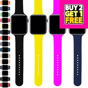 For Apple Watch Strap Band iWatch Series 7 6 SE 5 4 3 38/40/42/44 Silicone Sport