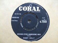 Buddy Holly - Brown Eyed Handsome Man / Slippin' & Slidin'  VG Coral 72459
